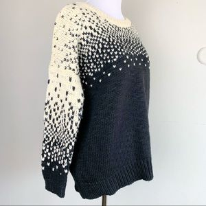 Madewell Sweaters - Madewell Small Black Cream Knit Nordic Pullover